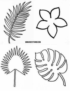 Best 11 Free papercraft templates from Papercraft Inspirations 178 – Papercraft Inspirations – SkillOfKing. Aloha Party, Moana Birthday Party, Dinosaur Birthday Party, Luau Party, Jungle Party, Safari Party, Giant Paper Flowers, Felt Flowers, Diy And Crafts