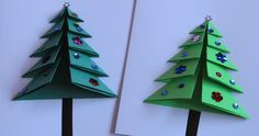 Simple folded Christmas trees make great cards