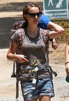 Natalie Portman Hiking With Son Aleph