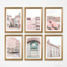 Travel Wall Art, Pink Home Decor, Thing 1, Contemporary Wall Art, Pastel Art, Wall Art Decor, Room Decor, Decoration, Wall Art Prints