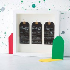 personalised mounted luggage tags by velvet ribbon | notonthehighstreet.com