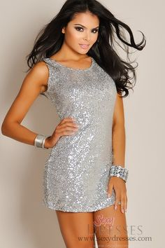 Ivory and Gold Sheer Long-Sleeve Cut-Out Sequins Party Dress ...
