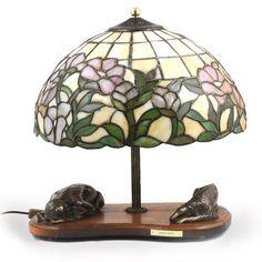 Borzoi dog lamp statue tiffany shade limited by ArtDogshopcenter