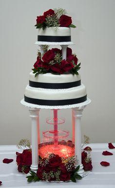 Fountain Wedding Cake