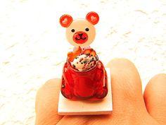 Kawaii Food Ring Bear Candy Ice Cream Lollipop Sundae Ring