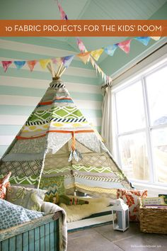 Roundup: 10 DIY Fabric Projects For The Kids' Room » Curbly | DIY Design Community