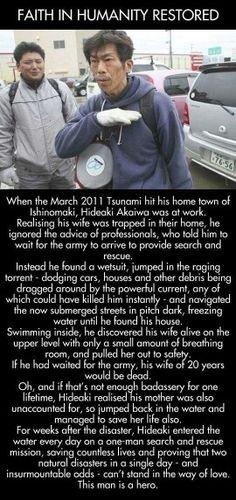Saves wife in tsunami