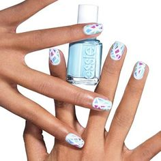 color theory by essie - why wear just one dreamy pastel when you can sport three? mix it up with a stained-glass nail art design that's sure to please.
