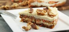 This carrot cake is amazingly tasty (especially with the macadamia frosting) and you will not believe that is healthy, gluten free, dairy free and suitable for vegan and Paleo eating plans.