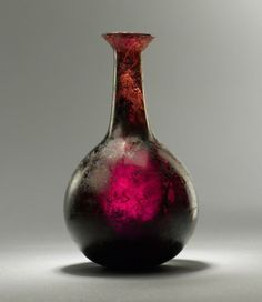 A Roman glass bottle: 1st century A.D.