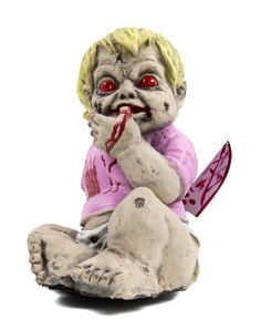 Isabella Zombie Baby exclusively at Spirit Halloween - Come a little closer because this tiny one wants to sing you a song! Meet Isabella Zombie Baby, the knife wielding youngster who will try to sing you to sleep, but be careful, who knows what she'll do once you close your eyes! Add her to your Zombie Baby Nursery for only $49.99.