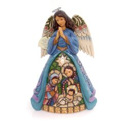 Jim Shore Praise Thee With The Joy of Angels Christmas Figurine Height: 9.25 Inches Material: Polyresin Type: Christmas Figurine Brand: Jim Shore Item Number: Jim Shore 4055051 Catalog ID: 31311 New W