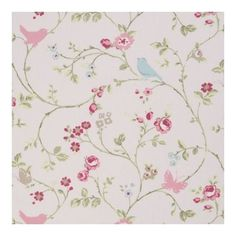 "Clarke and Clarke Bird Trail Rose Fabric 137cm/54"" wide in Crafts, Sewing & Fabric, Fabric 