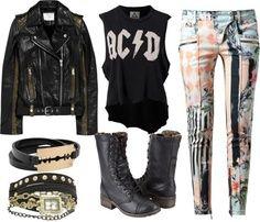 Outfits Rockeros, Rockeros Mujer, Conjuntos, Debo Tener, Moda Rock, Mujer Buscar, Creatividad, Tendencia, Botas