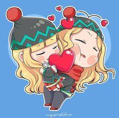 Chibi Lancelot ❤ Odette by Miyusa Ashibara Cute Disney Wallpaper, Cute Cartoon Wallpapers, Animes Wallpapers, Kawaii Chibi, Cute Chibi, Kawaii Anime Girl, Anime Cupples, Anime Chibi, Mobiles
