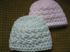 ronayvettes Snakes and Snails Preemie Hats ~ free pattern