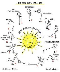 sun salutation laminated poster yoga poses  yoga poses