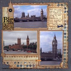 I've got to get around to scrapbooking my trip to England. It's been almost 10 years now!