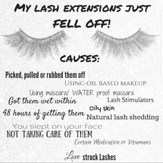 54607a7a501 My lash extensions fell off!! This is something that can happen for so many