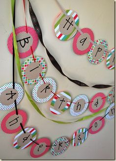 Birthday banner--love it! Diy Birthday Banner, Diy Banner, It's Your Birthday, Birthday Decorations, Birthday Party Invitations, Birthday Parties, Birthday Ideas, Happy 1st Birthdays, Diy Party