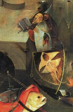 Temptation of St. Anthony (detail), Bosch