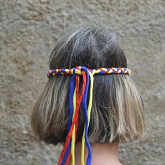 You can wear this braided Colombian headband and the matching Colombian flag bracelet at eh Colombian Independence Day festival in 2015! Show your pride to your country! Available in my Etsy shop.