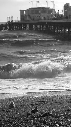 Worthing, West Sussex on windy day in November 2014.
