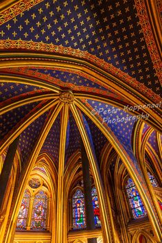 Sainte-Chapelle Cathedral Ceiling Print, French Church Stain Glass Window Fine Art Photography, Paris France Lover Gift for Wife Her Him Mom Sainte Chapelle Paris, Saint Chapelle, Paris France, Ceiling Detail, Gothic Architecture, Cathedral Architecture, Religious Architecture, Glass Marbles, Stained Glass Windows