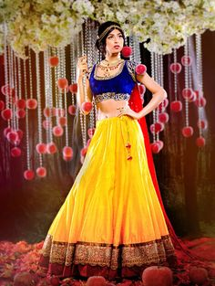 Disney Princesses reimagined as Indian Brides! Stunning. Snow White pictured.