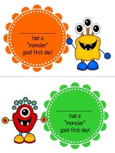 Monster Good First Day of School Certificate White Ink, Black And White, One Day, First Day Of School, Certificate, Monsters, Color, First Day Of Class, Black N White