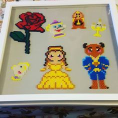 Beauty and the Beast perler beads by cosmichelen