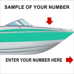 Amazon.com : 2 Boat Jet Ski Registration Number Decals Vinyl Sticker PWC  Lettering 3