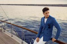 Daks Spring/Summer 2015 Advertising Campaign   FashionBeans.com Power Dressing, Oversized Jacket, Double Breasted Blazer, Office Outfits, Shorts, Mens Suits, Summer Outfits, Summer Clothes, Suit Jacket