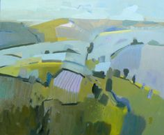 'Tadwick Valley, March 2015' Malcolm Ashman Abstract Landscape, Landscape Paintings, Landscapes, Oil Paintings, Post Impressionism, Modern Landscaping, Colour Schemes, Artist Painting, Art And Architecture
