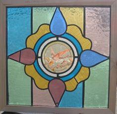 英国アンティークステンドグラス 105D Antique stained glass ¥85000yen 〆04月15日
