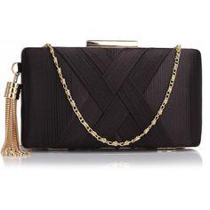 3ee7366d64 30 sophisticated golden chain clutch σε μαύρο Navy Clutch Bags