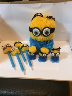 The pompom minions have been so popular, I have been selling loads at work in aid of Crohn's Disease.