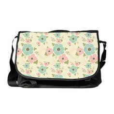 "Nostalgic flowers Messenger Bag Beige seamless vintage pattern ""Nostalgic flowers""  $90.99"