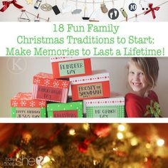 Family.  18 Fun Family Christmas Traditions to Start: Make Memories to Last a Lifetime!