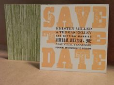 Small square wood design save the date / hatch / southern style wedding. Customize through Darby Cards!