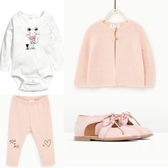 Baby girl outfit. Zara pants, cardigan, booties, H&M body. 2016 fall collection
