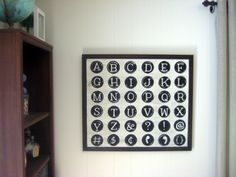 Paint in my Hair: Pottery Barn Typewriter Art (Knock-Off)