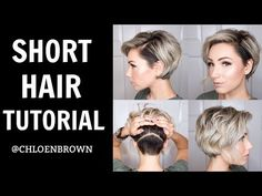 SHORT HAIR TUTORIAL    WET TO DRY STYLING - YouTube