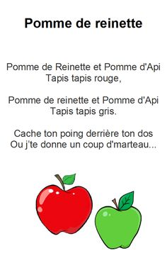 Afficher l'image d'origine Father Songs, French Poems, Daycare Themes, Apple Season, Apple Theme, French Classroom, French Immersion, Learn French, My Job