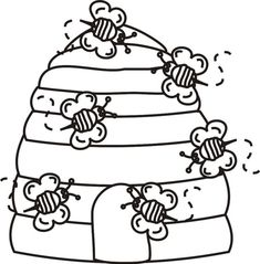 Bees Coloring Page | Free Bees Online Coloring | Drawings Colored by ...