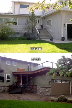 1000 images about beautiful before after on pinterest Exterior home renovations calgary