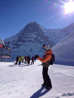 Départ des pistes de ski...au pied de l'Eiger! Merveilleux!