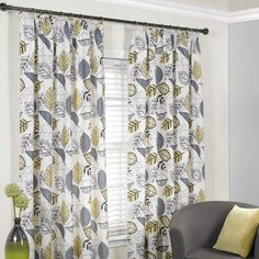 Bude Tape Curtains Ochre