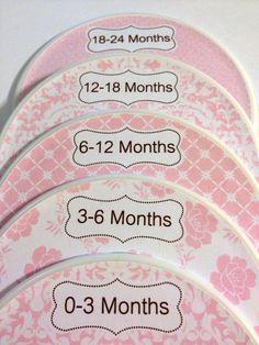 5 Custom Baby Closet Dividers Organizers by GinaMarieOriginals