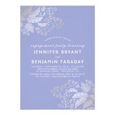 #engagement #party #invitations - #Gold Foliage Lavender Purple Engagement Party Card